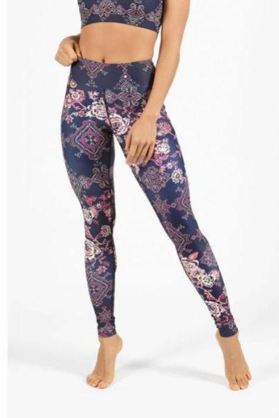 Dharma Bums Wandering Spirit High Waist Printed Yoga Legging Full Length - yApparel