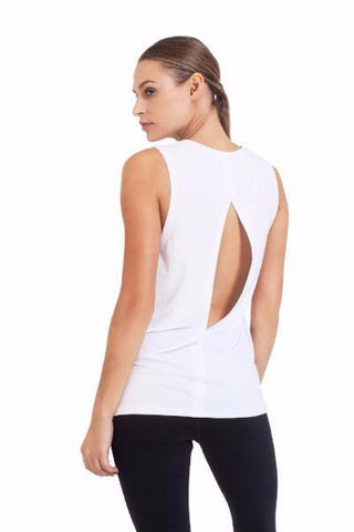 Bamboo Diamond Tee - White