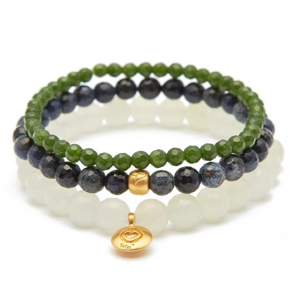 Satya Jewelry Lotus Heart Set Bracelet - yApparel