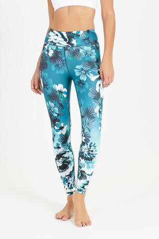 Dharma Bums Everglades High Waist Printed Legging - 7/8 - yApparel