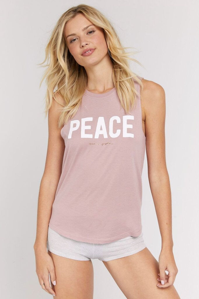 Spiritual Gangster Peace Muscle Tank - yApparel