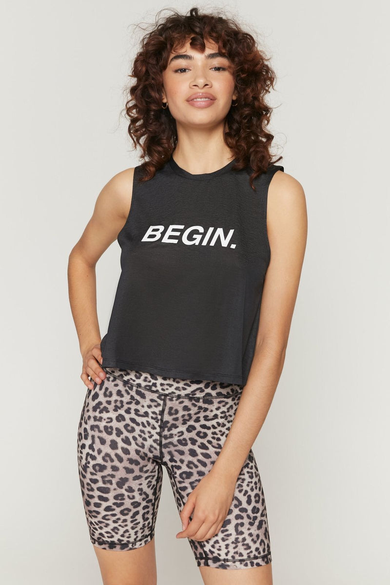 Spiritual Gangster Begin Active Crop Tank - yApparel