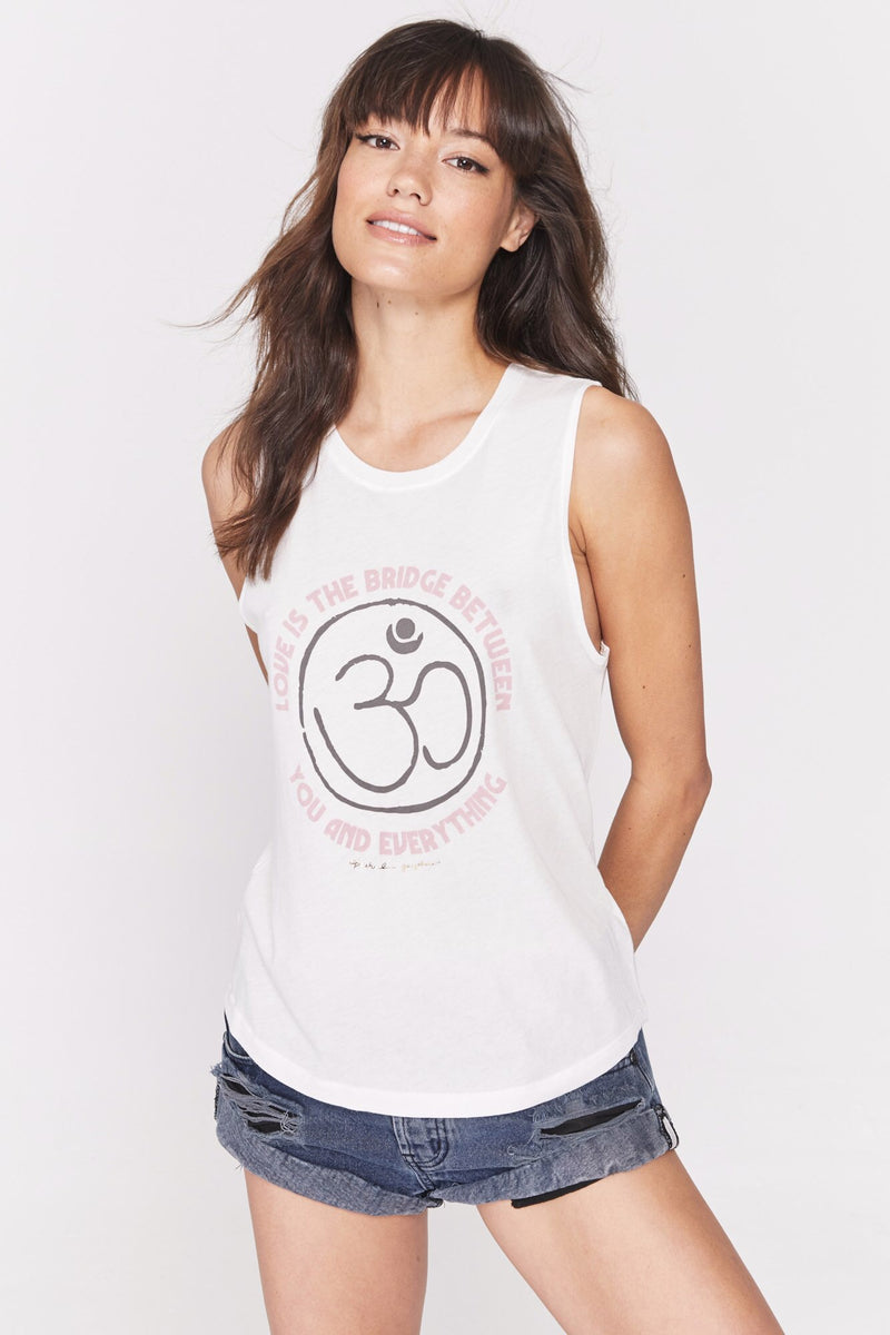 Spiritual Gangster Love Is The Bridge Muscle Tank - yApparel