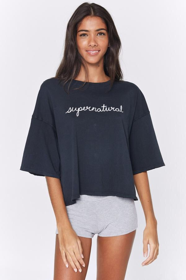 Spiritual Gangster Supernatural Icon Boyfriend Tee - yApparel