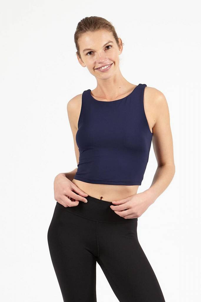 Dharma Bums Navy Crop Top - yApparel