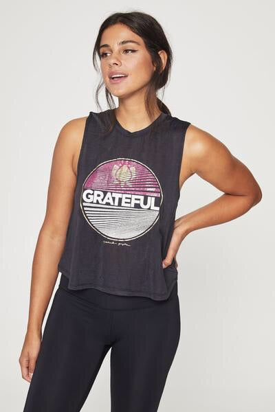 Spiritual Gangster Grateful Crop Top - yApparel