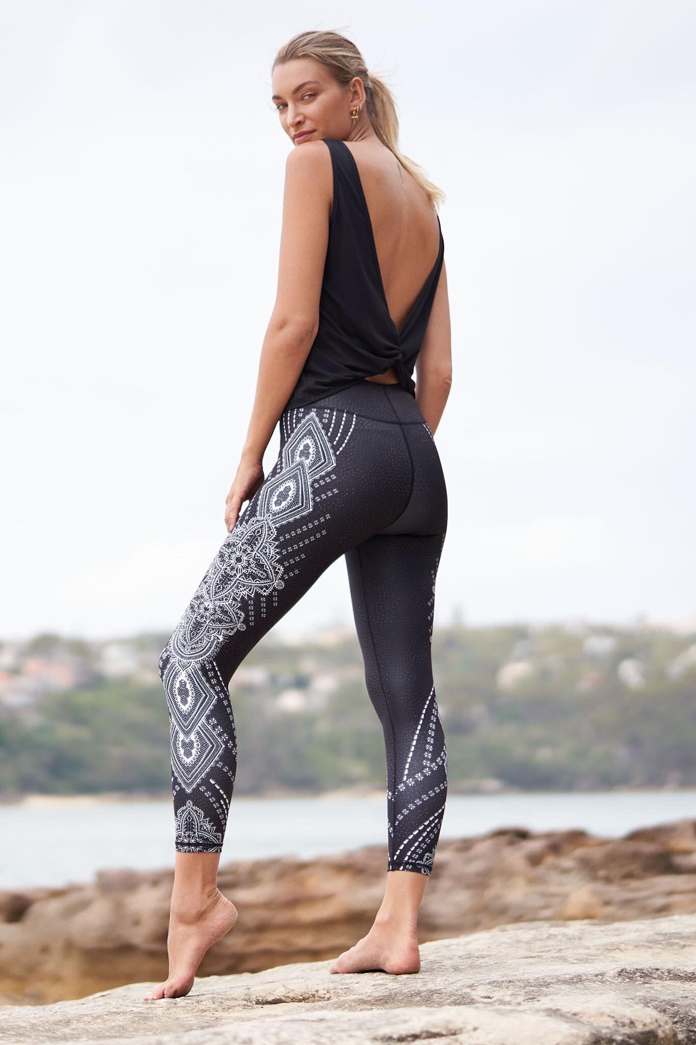 Dharma Bums Bohi Recycled High Waist Printed Legging - 7/8 - yApparel
