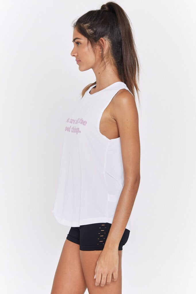 Spiritual Gangster All The Good Things Active Muscle Tank - yApparel