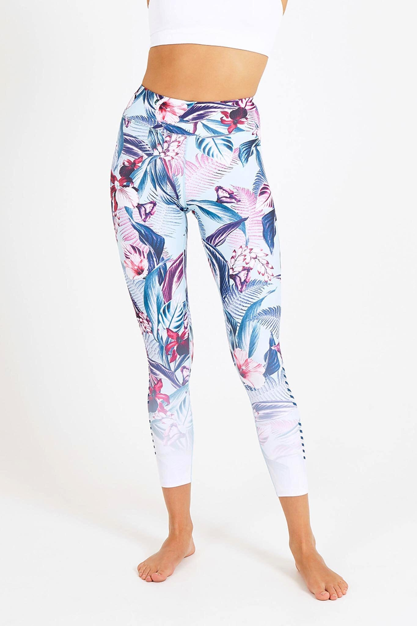 Dharma Bums Pastel Forest High Waist Printed Legging - yApparel
