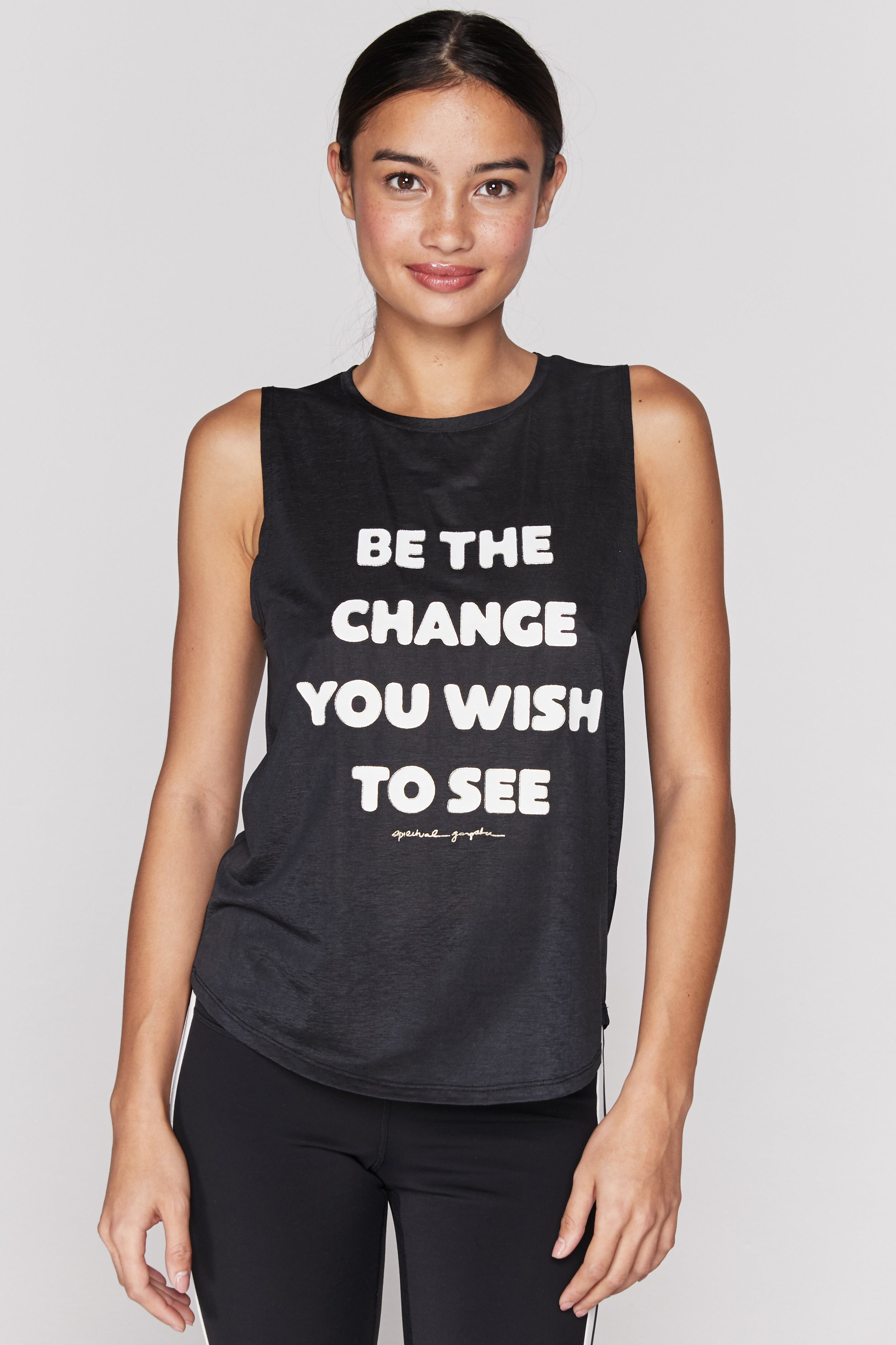 Spiritual Gangster Change Active Muscle Tank - yApparel