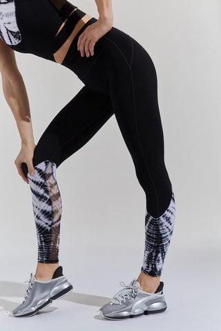Sunset Legging Chevron Wash Asphalt Whisper