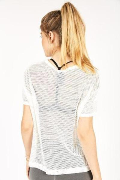 Electric & Rose Kinney Mesh Crew Tee Cloud - yApparel