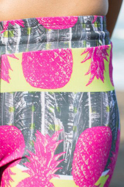 Pineapple Surf Legging - Elastic Waist