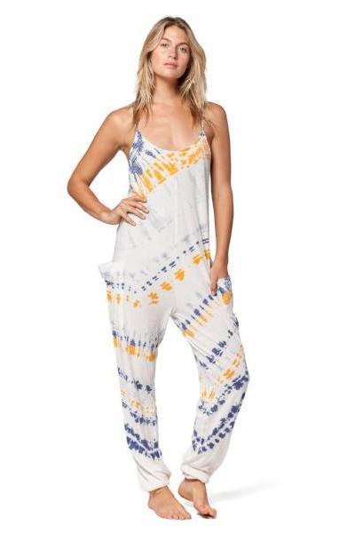 Electric & Rose Playa Jumpsuit After Glow Wash / Denim - yApparel