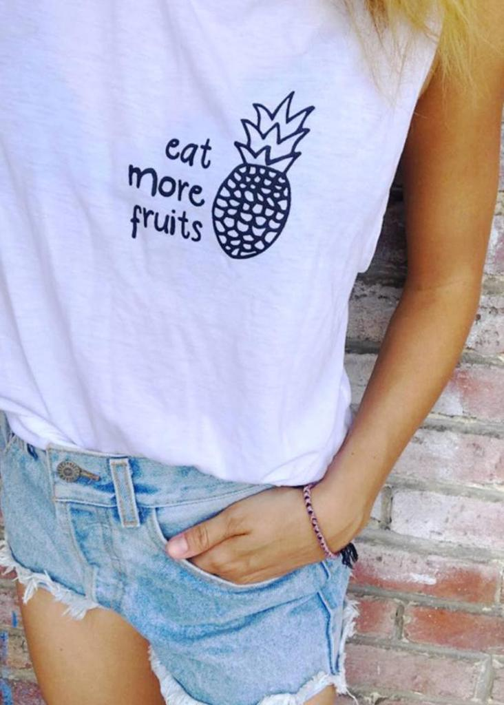 Wholesome Culture Eat More Fruits - Muscle Tank - yApparel