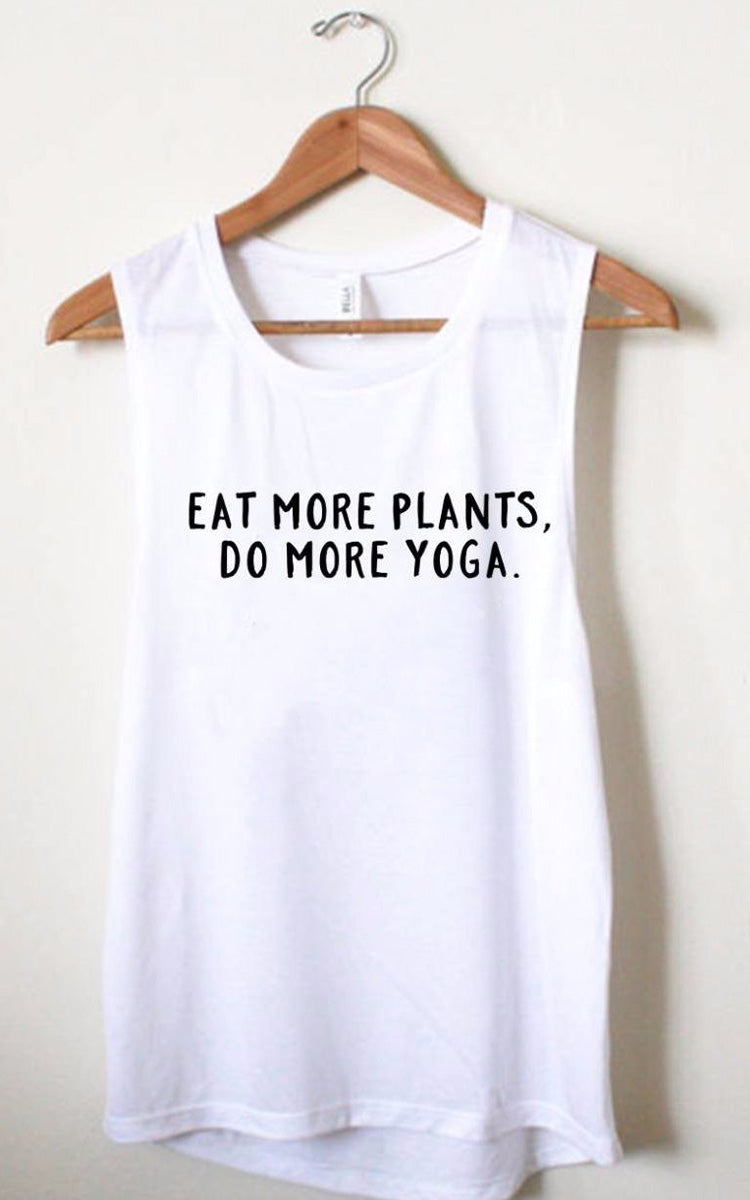 Wholesome Culture Eat More Plants Muscle Tank - yApparel