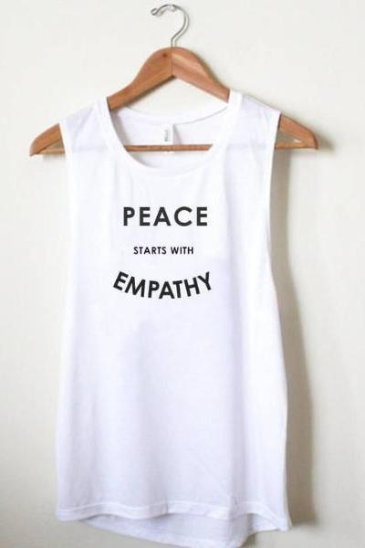 Wholesome Culture Peace Starts with Empathy White - yApparel