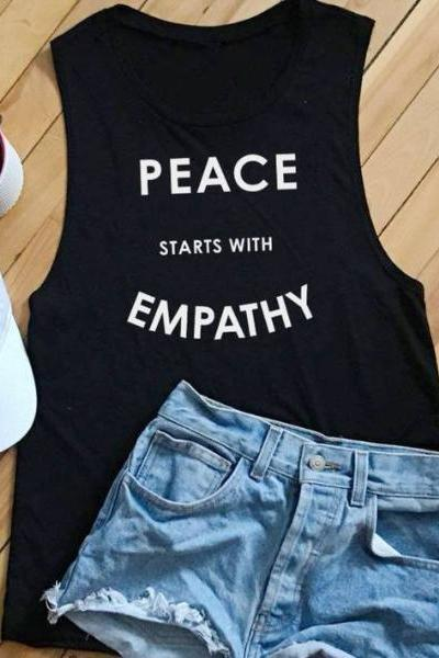 Wholesome Culture Peace Starts with Empathy Black - yApparel