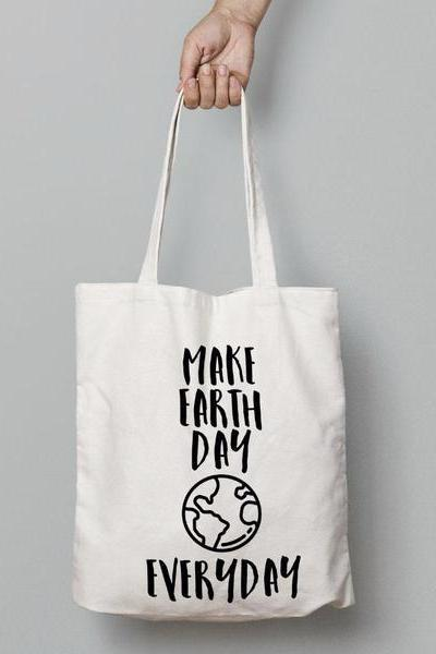 Wholesome Culture Make Earth Day Everyday Tote Bag - yApparel