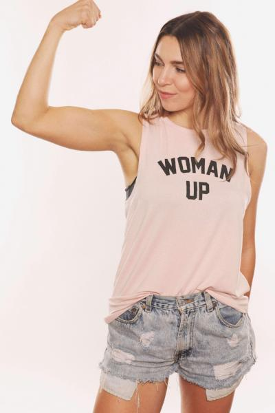 House Of Tens Woman Up Muscle Tank - yApparel