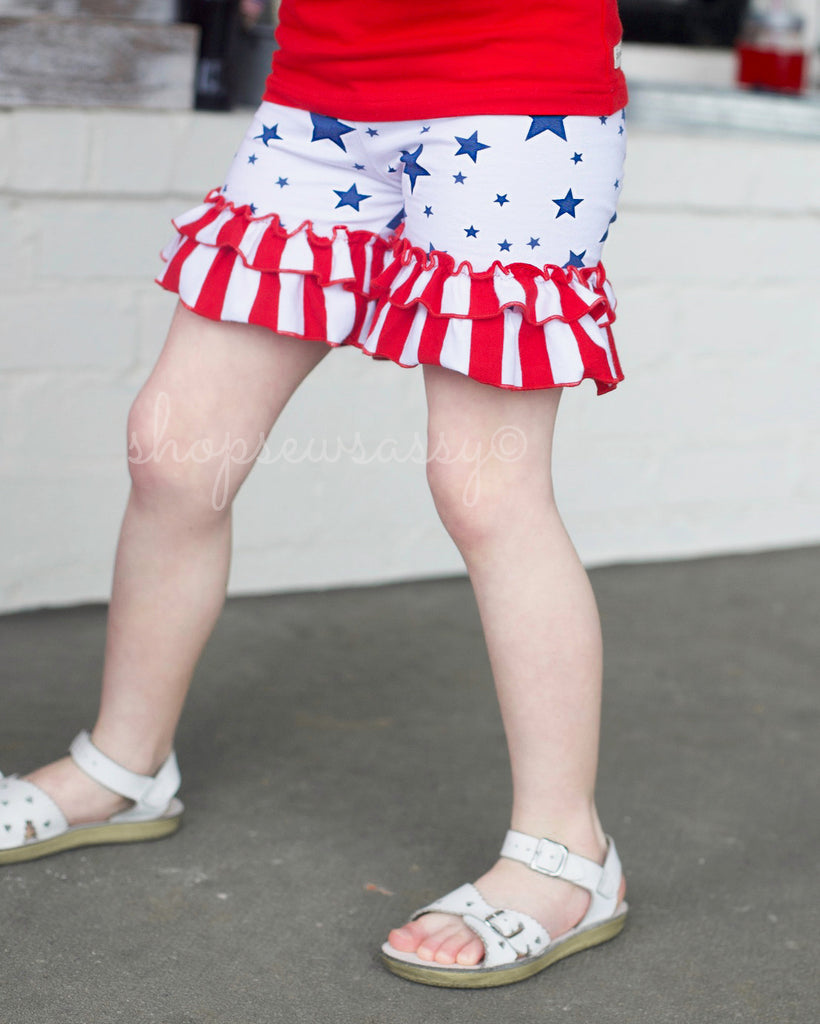 Star Spangled Ruffle Shorties