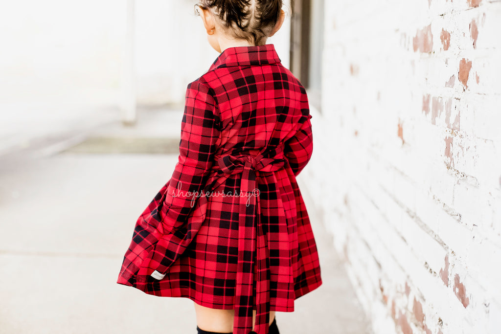 Buffalo Plaid Button Up Dress