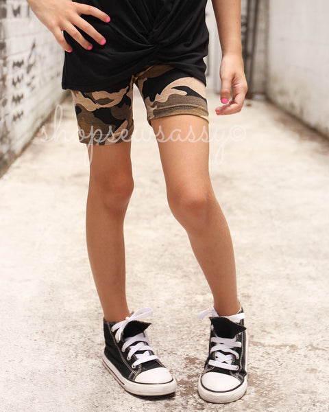 Camo Simple Shorties