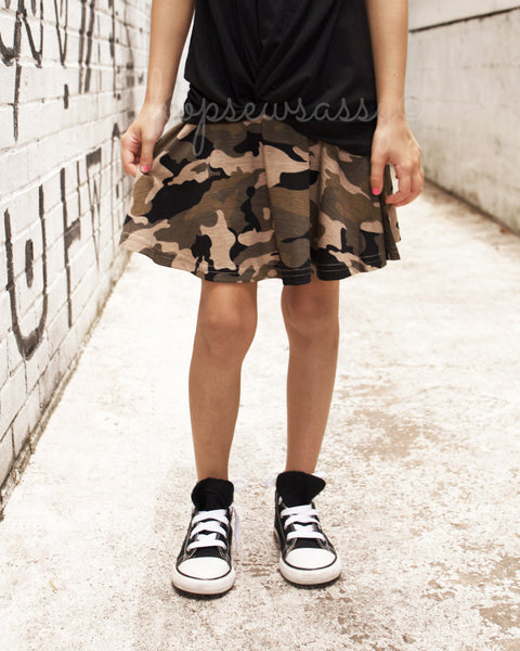 Camo Twirly Skirt
