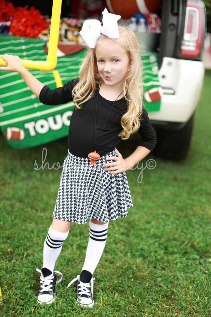 Houndstooth Twirly Skirt