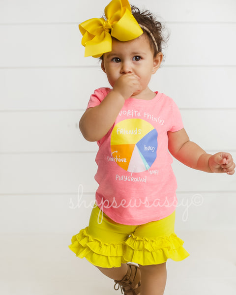Sunshine Ruffle Shorties