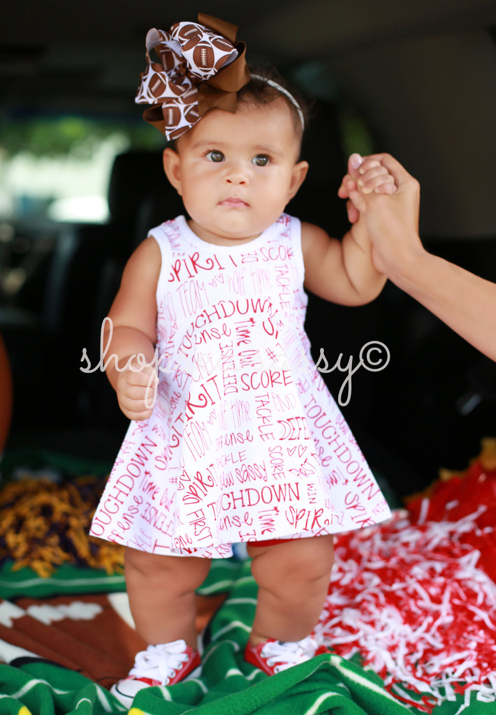 Red Twirling Touchdown Tunic Bundle