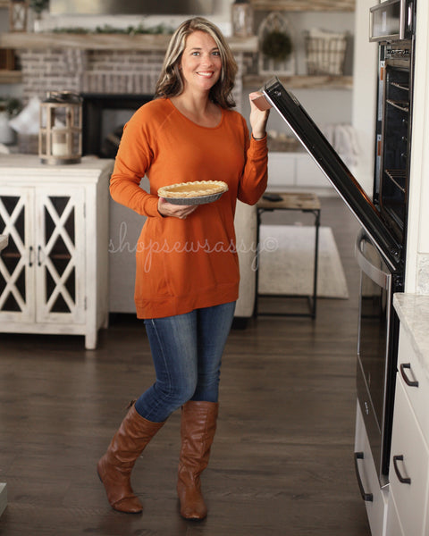 Women's Pumpkin Sassy Denim Slouch