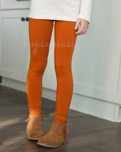 Pumpkin Sassy Denim True Leggings