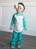 Teal + White Hooded Bailey