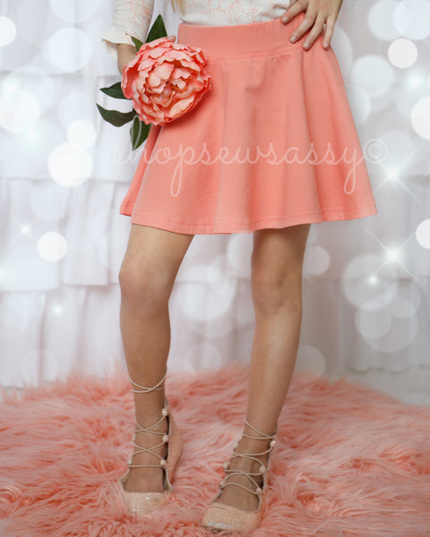 Peach Quartz Twirly Skirt