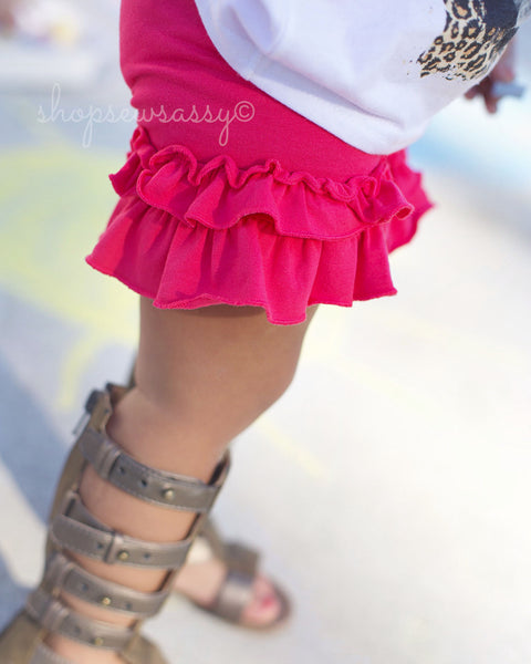 Shocking Pink Ruffle Shorties