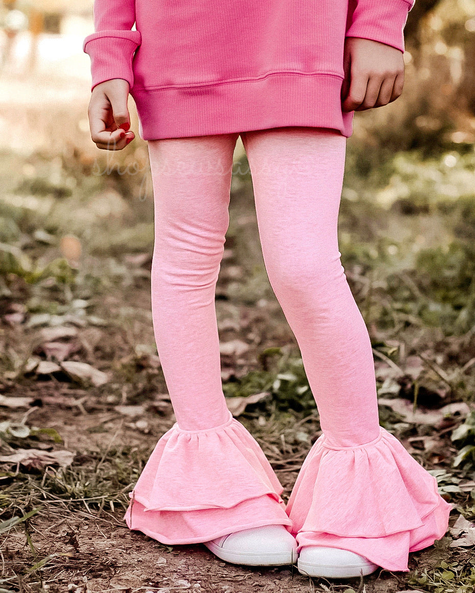Heathered Pink Milly Leggings