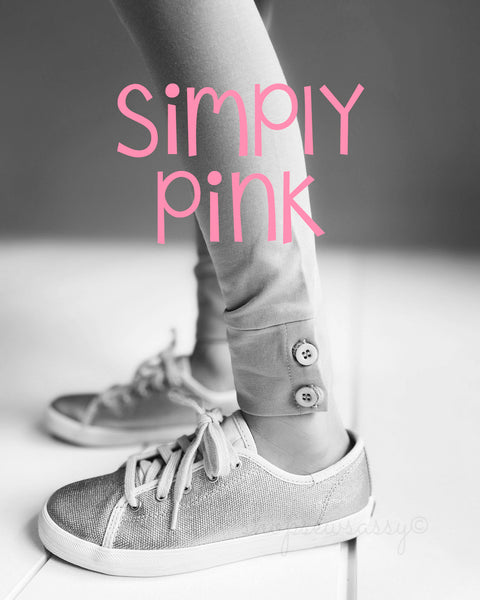 Simply Pink Button Leggings