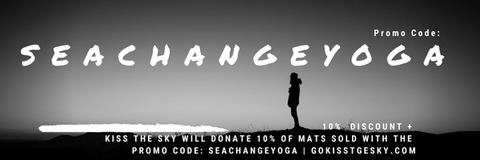 PROMOCODE: SEACHANGEYOGA | 10% Off + 10% Donated