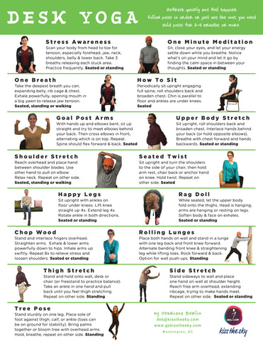 Download our popular DESK YOGA moves!