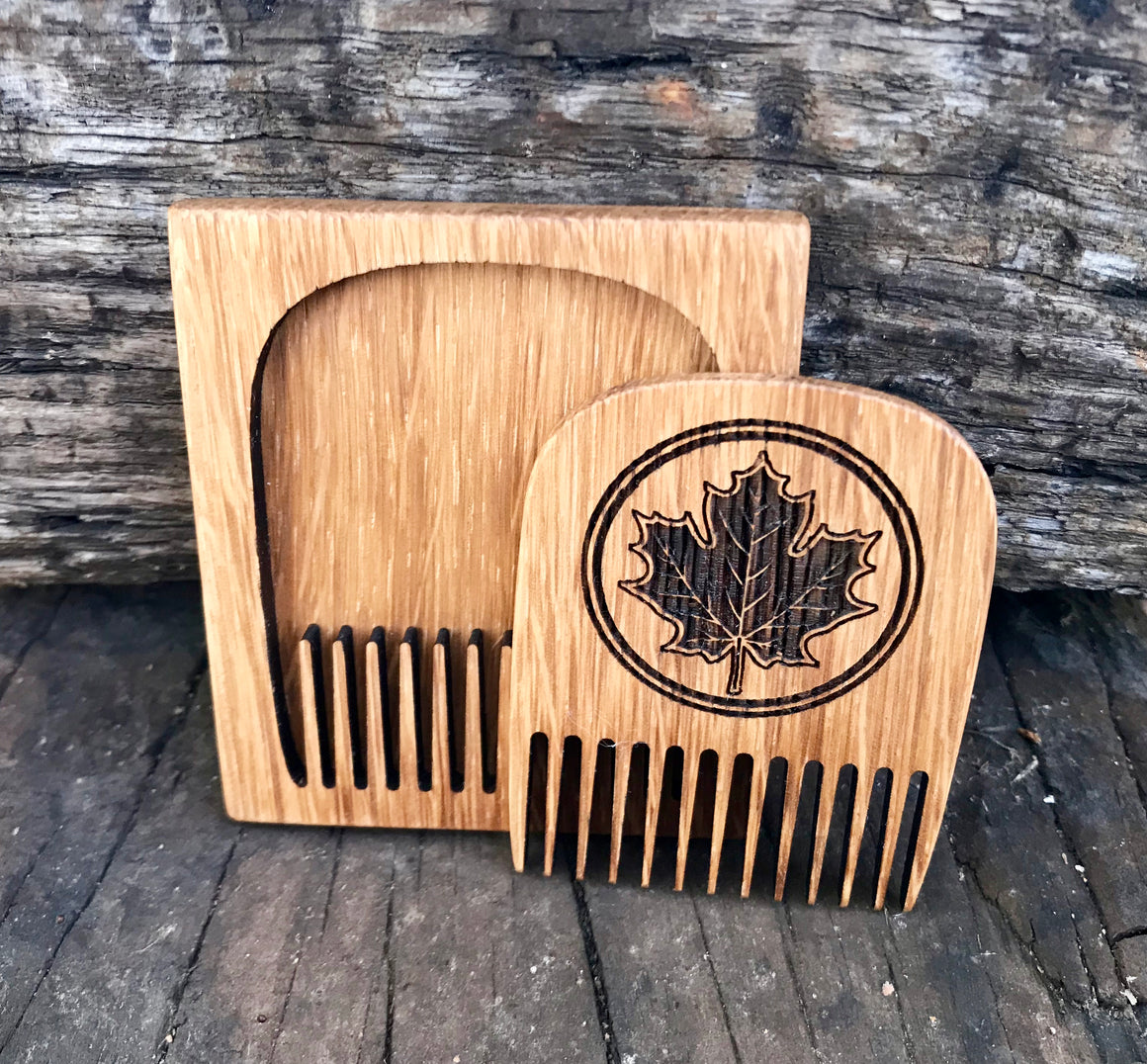 Maple Leaf Beard Comb