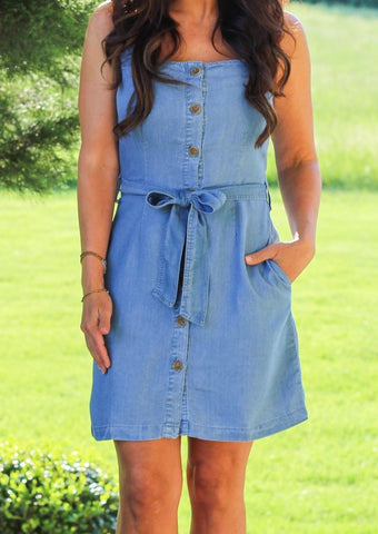 Sleeveless Tencel Dress
