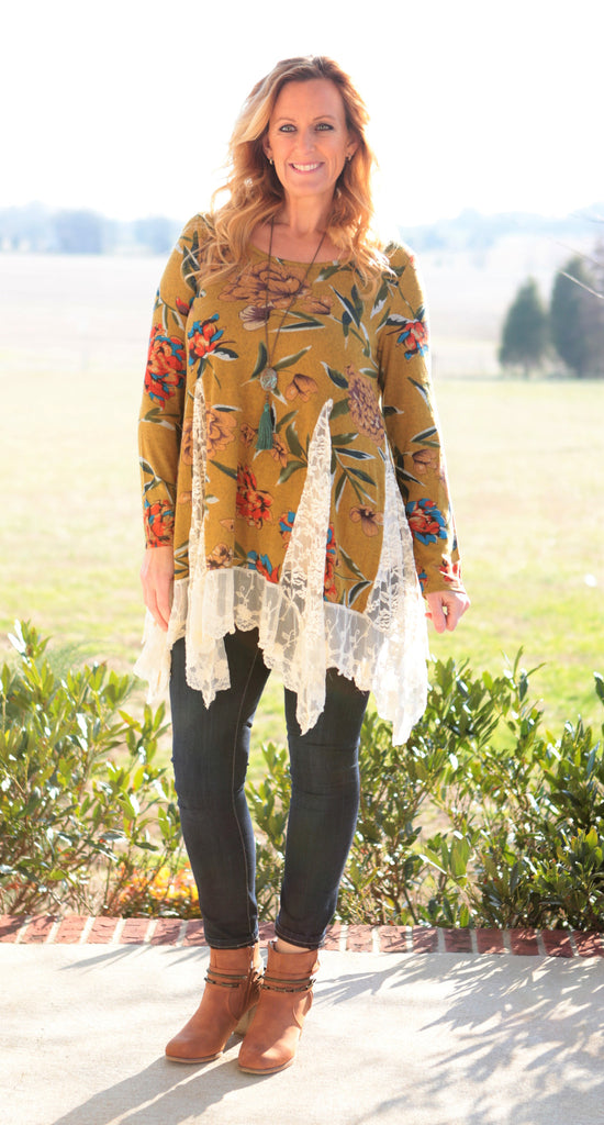 Rain Over Me Floral Tunic