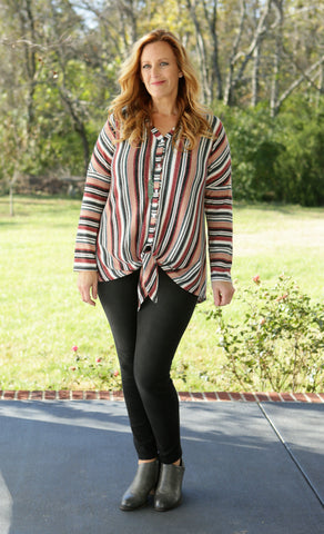 Wonders Galore Stripe Top