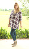 Step By Step Plaid Tunic