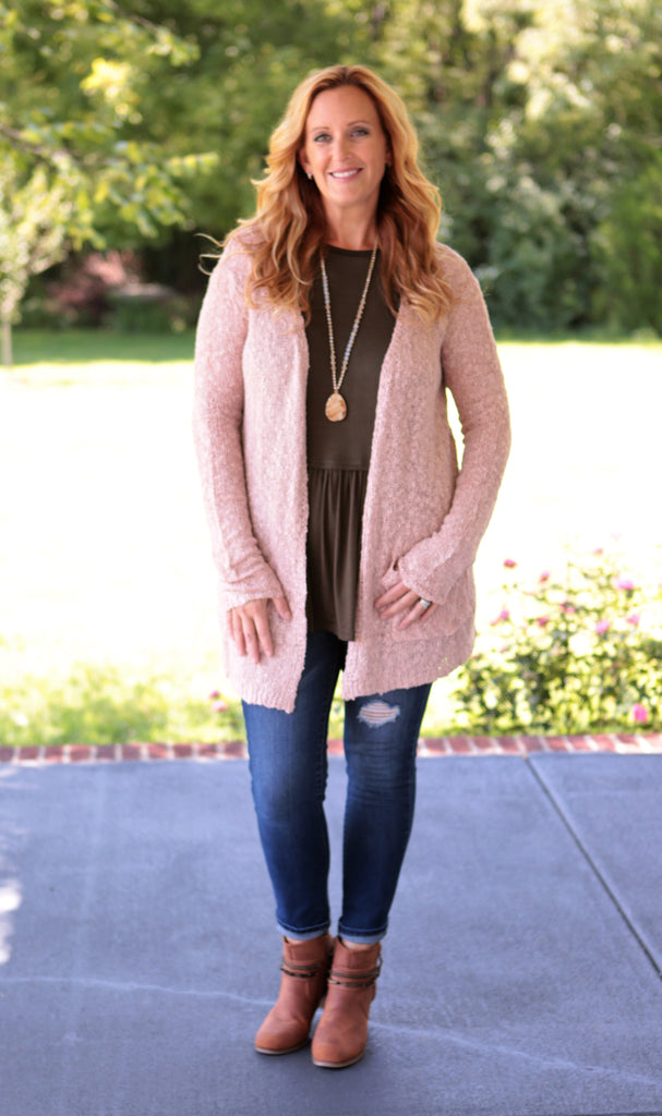 Sophia Open Knit Cardigan (available in several colors)