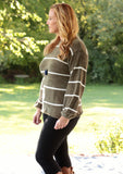 Soft To The Touch Striped Sweater (2 colors)