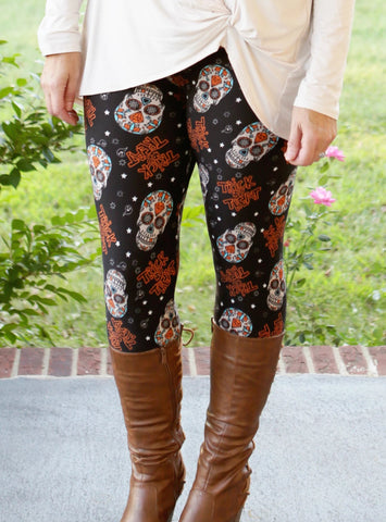 Super Soft Printed Trick or Treat Leggings