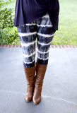 Super Soft Printed Navy Tie Dye Leggings