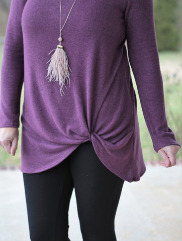 Feather Tassel Necklace (available in several colors)